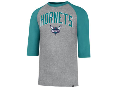 Charlotte Hornets '47 NBA Men's Zone Raglan Three Quarter Sleeve T-Shirt