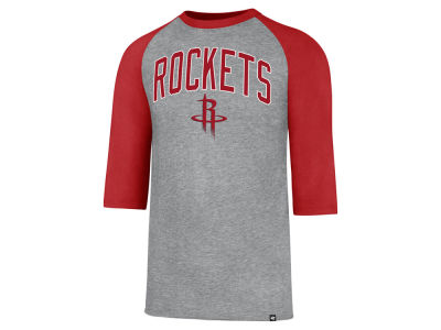 Houston Rockets '47 NBA Men's Zone Raglan Three Quarter Sleeve T-Shirt