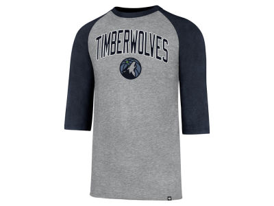 Minnesota Timberwolves '47 NBA Men's Zone Raglan Three Quarter Sleeve T-Shirt
