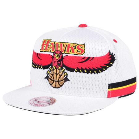 Atlanta Hawks Mitchell & Ness NBA Jersey Mesh Hook Snapback Cap