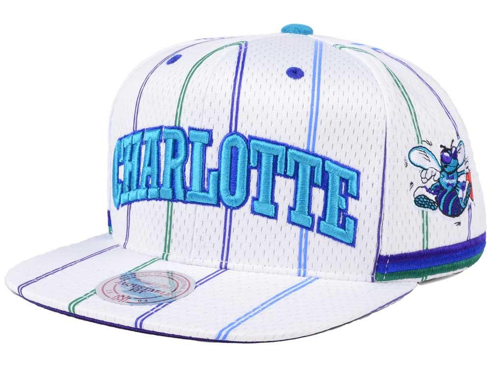 fc986d224be Charlotte Hornets Mitchell   Ness NBA Jersey Mesh Hook Snapback Cap ...