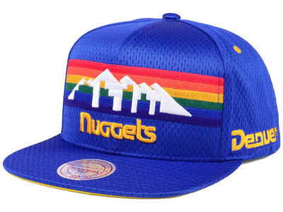 Denver Nuggets Mitchell & Ness NBA Jersey Mesh Hook Snapback Cap