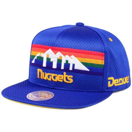 Denver Nuggets Mitchell & Ness NBA Jersey Mesh Hook Snapback Cap