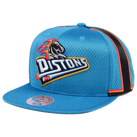 Detroit Pistons Mitchell & Ness NBA Jersey Mesh Hook Snapback Cap