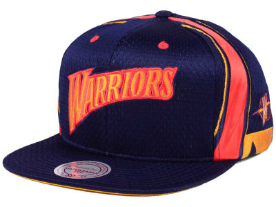 Golden State Warriors Mitchell & Ness NBA Jersey Mesh Hook Snapback Cap