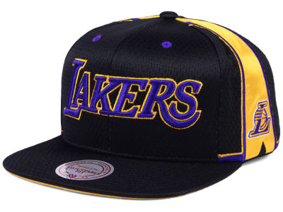 Los Angeles Lakers Mitchell & Ness NBA Jersey Mesh Hook Snapback Cap