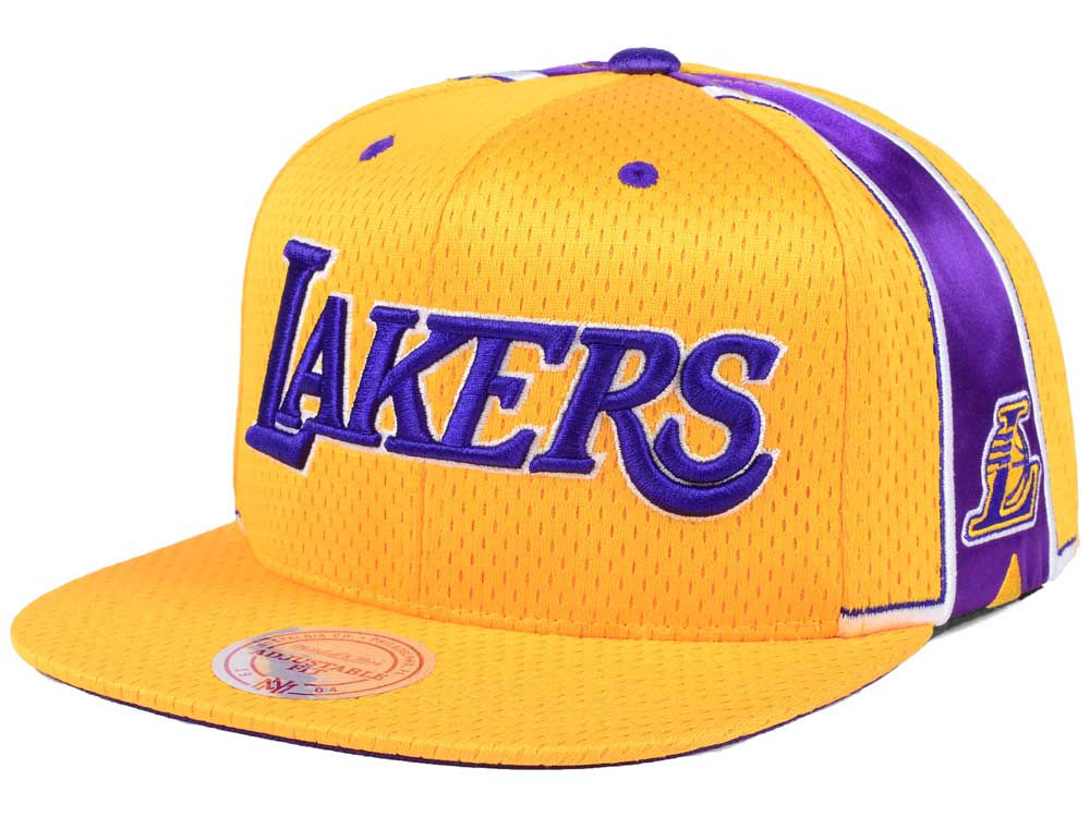 brand new d3186 02dc0 ... inexpensive los angeles lakers mitchell ness nba jersey mesh hook snapback  cap 0d505 4cc90