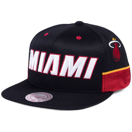Miami Heat Mitchell & Ness NBA Jersey Mesh Hook Snapback Cap