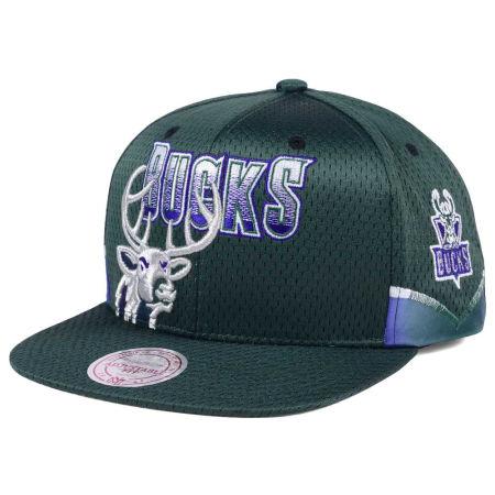 Milwaukee Bucks Mitchell & Ness NBA Jersey Mesh Hook Snapback Cap