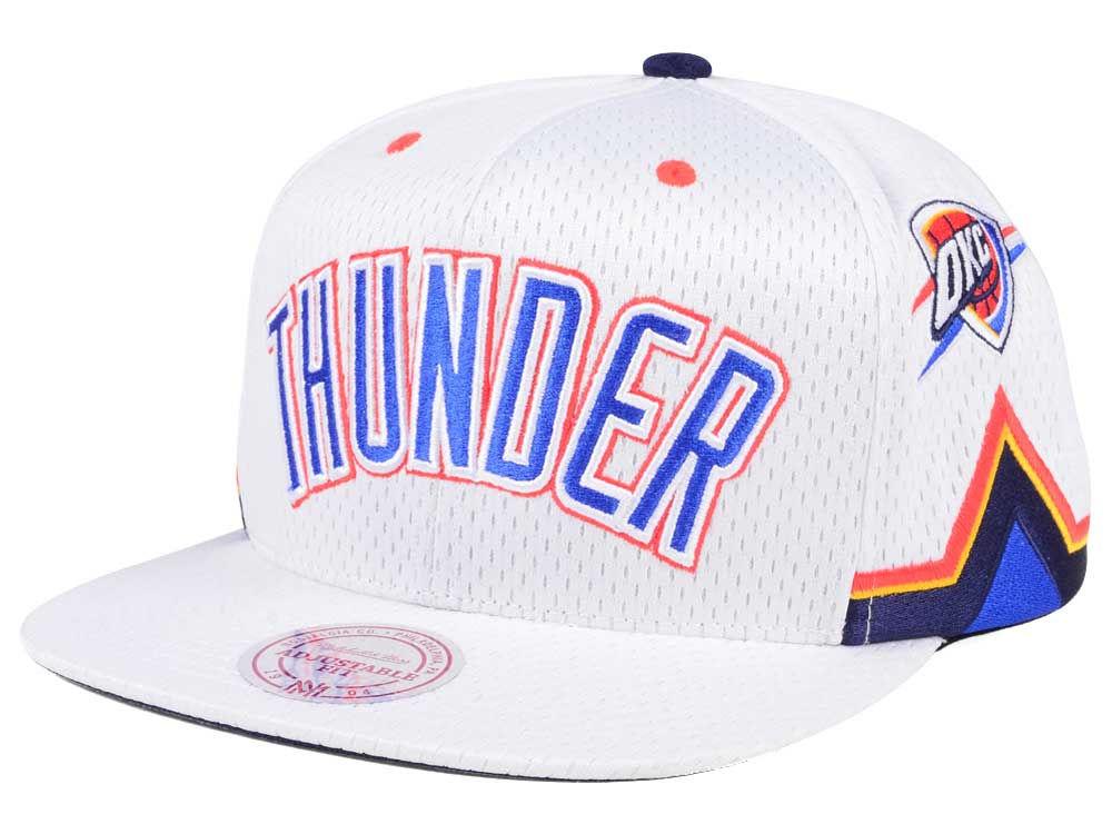 Oklahoma City Thunder Mitchell   Ness NBA Jersey Mesh Hook Snapback Cap  264327a5680
