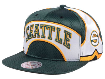 Seattle SuperSonics Mitchell & Ness NBA Jersey Mesh Hook Snapback Cap