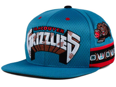 Vancouver Grizzlies Mitchell & Ness NBA Jersey Mesh Hook Snapback Cap