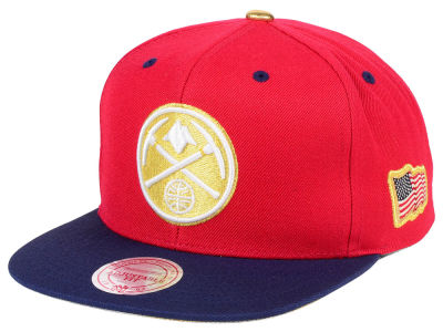 Denver Nuggets Mitchell & Ness NBA USA 2Tone 2.0 Snapback Cap