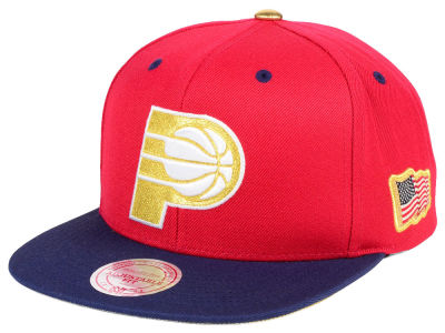 Indiana Pacers Mitchell & Ness NBA USA 2Tone 2.0 Snapback Cap