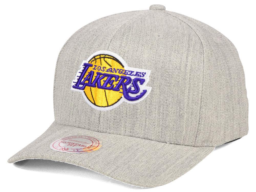 25b319fa365 Los Angeles Lakers Mitchell   Ness NBA X Flexfit 110 Snapback Cap ...