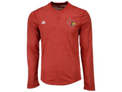 Louisville Cardinals adidas NCAA Men's Henley Long Sleeve T-Shirt