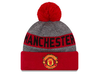 Manchester United New Era EPL Cuff Pom Knit