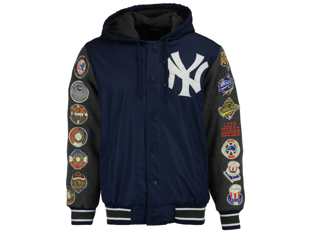 New York Yankees Starter MLB Men s Top Brass Commemorative Varsity Jacket  da6bce8de55
