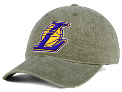 Los Angeles Lakers Mitchell & Ness NBA Blast Wash Dad Hat