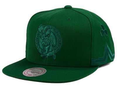 Boston Celtics Mitchell & Ness NBA Tonal Short Hook Snapback Cap