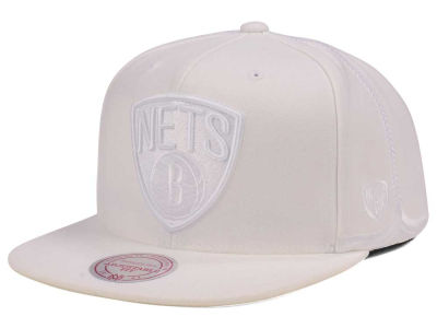 Brooklyn Nets Mitchell & Ness NBA Tonal Short Hook Snapback Cap