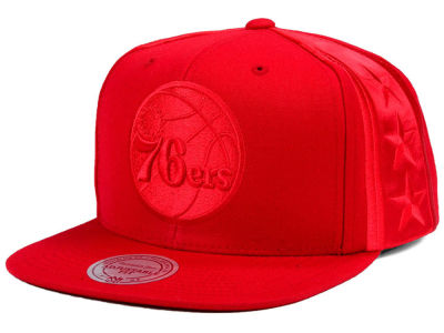 Philadelphia 76ers Mitchell & Ness NBA Tonal Short Hook Snapback Cap