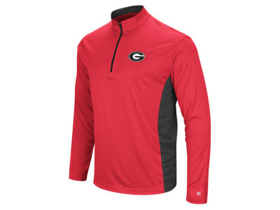 Georgia Bulldogs Colosseum NCAA Men's Audible Quarter Zip Pullover