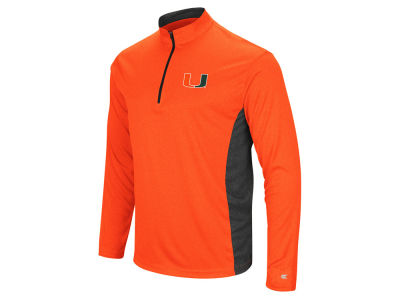 Miami Hurricanes Colosseum NCAA Men's Audible Quarter Zip Pullover