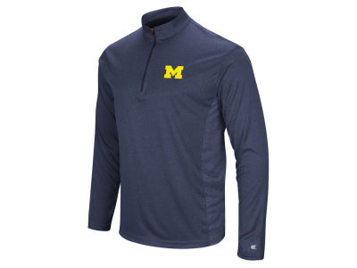 Michigan Wolverines Colosseum NCAA Men's Audible Quarter Zip Pullover