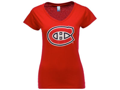 Montreal Canadiens NHL Women's Basic Logo V-Neck T-Shirt
