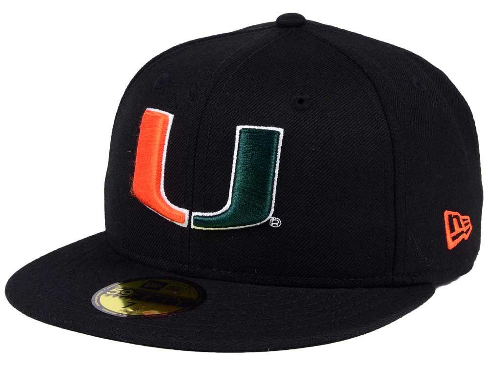 Miami Hurricanes New Era NCAA AC 59FIFTY Cap  dbd868e3c34