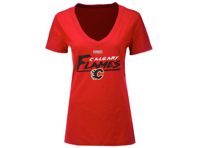 Calgary Flames NHL Women's Playoffs Interference T-Shirt