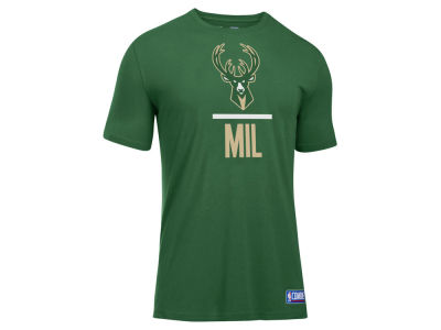 Milwaukee Bucks Under Armour NBA Men's Lockup T-Shirt