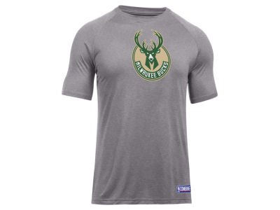 Milwaukee Bucks Under Armour NBA Men's Primary Logo T-Shirt
