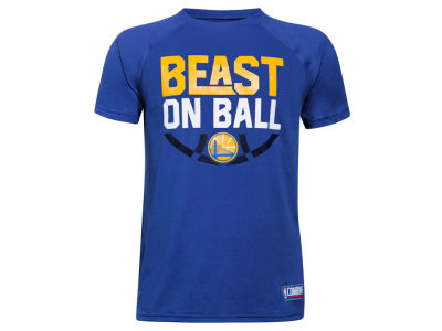 Golden State Warriors Under Armour NBA Youth Combine Beast on Ball T-Shirt