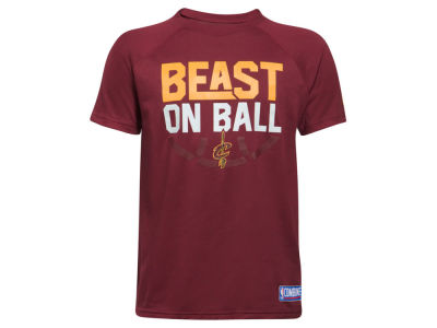 Cleveland Cavaliers Under Armour NBA Youth Combine Beast on Ball T-Shirt