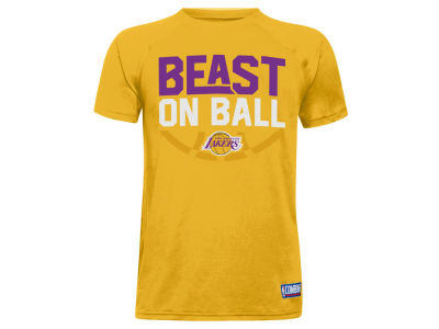 Los Angeles Lakers Under Armour NBA Youth Combine Beast on Ball T-Shirt