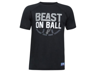 San Antonio Spurs Under Armour NBA Youth Combine Beast on Ball T-Shirt