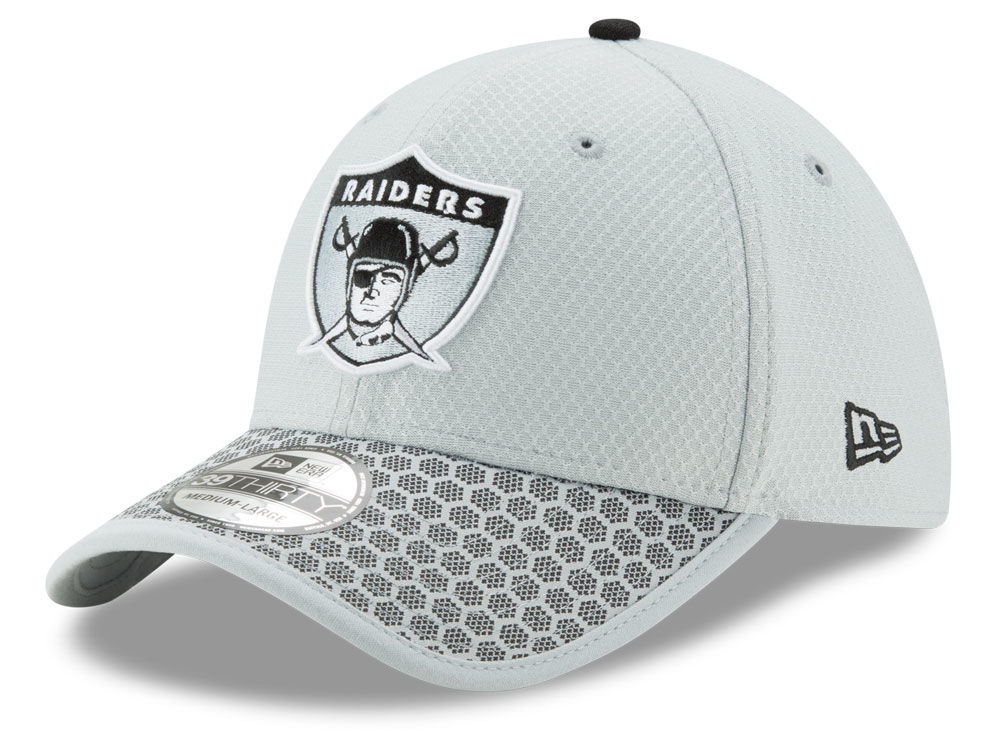 Oakland Raiders New Era 2017 Official NFL Sideline 39THIRTY Cap ... 2b4d6a093e33