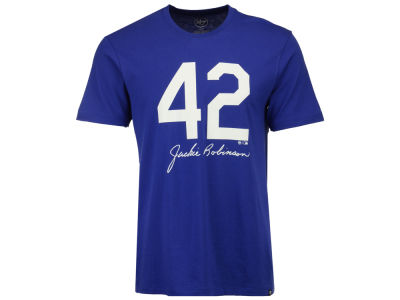 Brooklyn Dodgers Jackie Robinson MLB Men's Club JR Signature T-Shirt