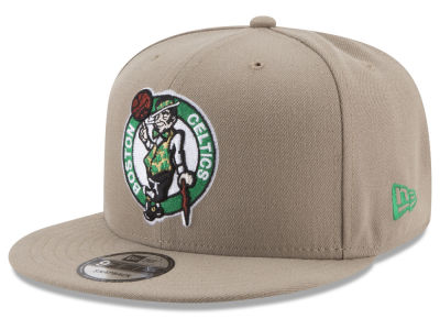 Boston Celtics New Era NBA Tan Top 9FIFTY Snapback Cap