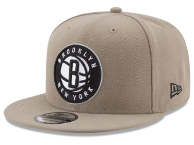 Brooklyn Nets New Era NBA Tan Top 9FIFTY Snapback Cap