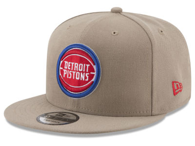 Detroit Pistons New Era NBA Tan Top 9FIFTY Snapback Cap