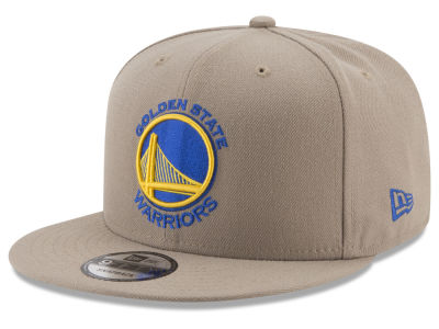 Golden State Warriors New Era NBA Tan Top 9FIFTY Snapback Cap
