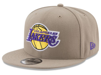 Los Angeles Lakers New Era NBA Tan Top 9FIFTY Snapback Cap