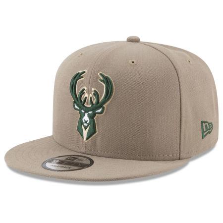 Milwaukee Bucks New Era NBA Tan Top 9FIFTY Snapback Cap