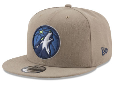 Minnesota Timberwolves New Era NBA Tan Top 9FIFTY Snapback Cap