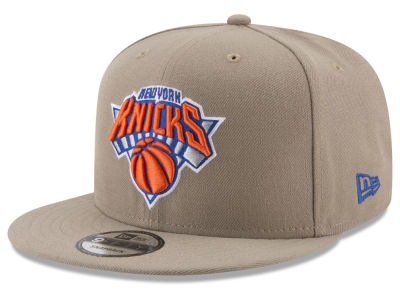 New York Knicks New Era NBA Tan Top 9FIFTY Snapback Cap