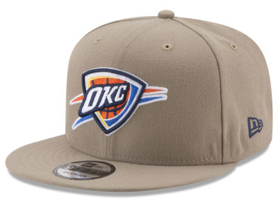 Oklahoma City Thunder New Era NBA Tan Top 9FIFTY Snapback Cap