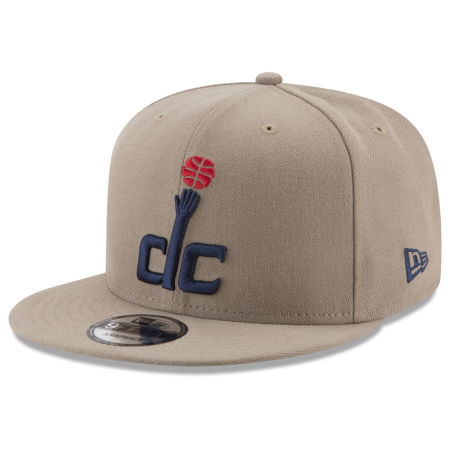 Washington Wizards New Era NBA Tan Top 9FIFTY Snapback Cap